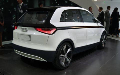 Audi A2 Concept from the floor of the Frankfurt auto show