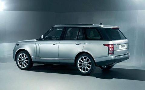 A shark's gill design adorns the front doors of the 2013 Land Rover Range Rover.