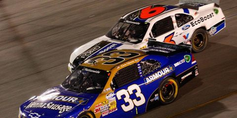 It was Kevin Harvick (33) and Ricky Stenhouse Jr. down the stretch at Richmond.
