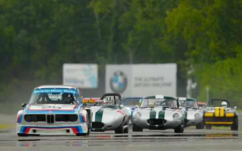 Simon Kirkby -- ex-pat Brit, former FF2000 star and now director of the private Lime Rock Drivers Club -- was recruited by BMW to pilot the ex-Sam Posey IMSA GT 3.0CSL from 1975. Kirkby won both of his races, out-pacing the usually dominant E-types.