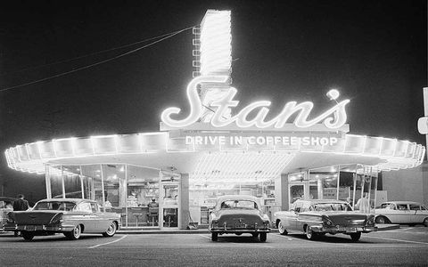 "The neon lights of Stan's Drive In Coffee Shop in Hollywood, California, gave off quite a glow on March 26, 1958, a few months before the launch of a new publication called Competition Press, which would eventually become AutoWeek. The automotive lifestyle was blossoming in the late '50s, and establishments like Stan's cropped up around the country, serving drivers ""fast"" food to be eaten in parked cars, while also serving as gathering places."