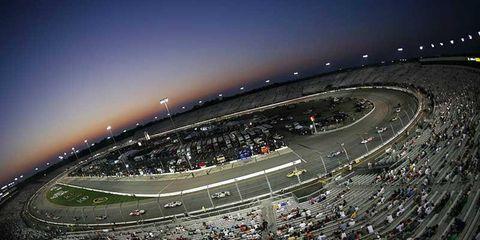 Richmond International Raceway at dusk