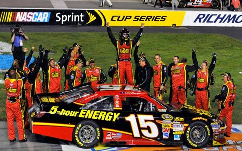Clint Bowyer was the final race of NASCAR's regular season. The rain-delayed race ended early Sunday morning in Richmond, Va.