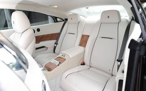 Executive rear seating is standard in the Rolls Royce Wraith.