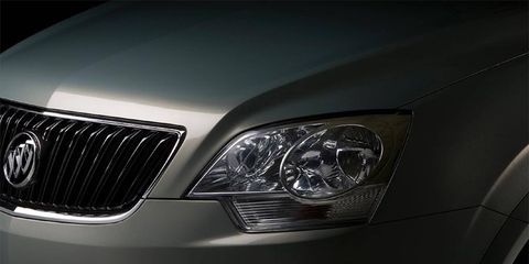 A teaser shot of the canceled Buick crossover.