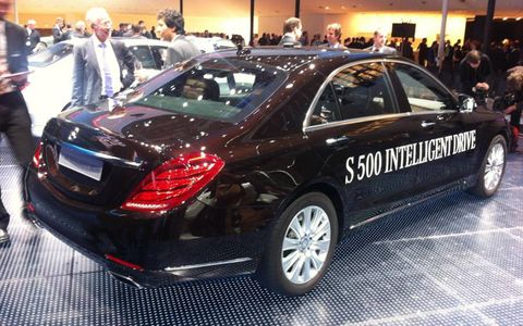 The S 500 Intelligent Drive is not like Big Brother, Benz says, but more like a friend who helps you drive.
