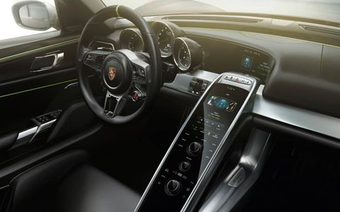 Full connectivity is available inside the Porsche 918 Spyder.
