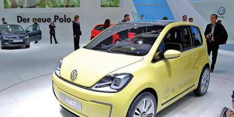 If Volkswagen sells an electric vehicle in the United States, it likely would be a larger version of the E-Up! concept, which was unveiled last week at the Frankfurt motor show.
