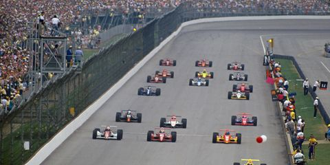 The Indy 500 remained the premier Memorial Day weekend race, even though CART tried to stage a different race at the same time.