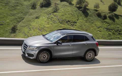 The GLA is the fifth entry in the Mercedes pantheon of SUVs, joining the GLK, ML, GL and G.