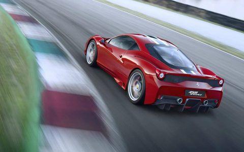 Active aero keeps the Ferrari 458 Speciale in line.