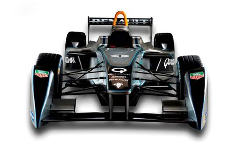 The Spark-Renault SRT_01E electric racer was revealed on Tuesday at the Frankfort Motor Show.