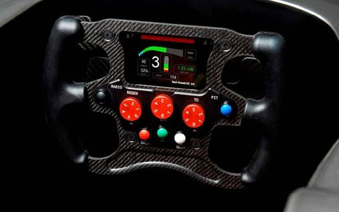 The Spark-Renault SRT_01E features a fairly straight-forward steering wheel, as least as far a traditional Formula racing is concerned.