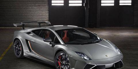 The Gallardo LP 570-4 Squadra Corse has a fuel tank capacity of 90 litres.