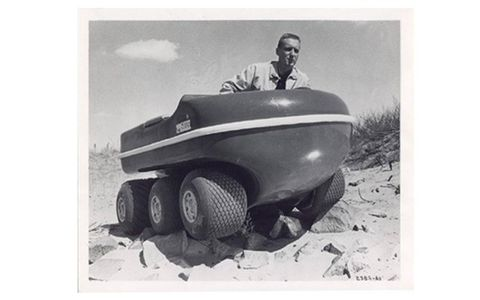 The Gator, a Canadian AATV developed in the early 1960s, undergoes testing.
