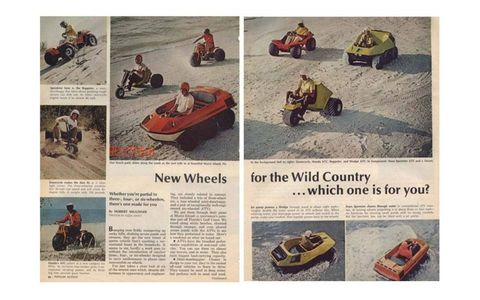 A Popular Science article from 1971 shows the diversity of all-terrain vehicles on the market at the time.