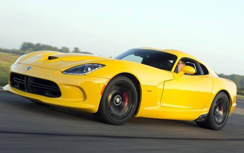 The V10 in the 2013 SRT Viper pumps out 640 hp.