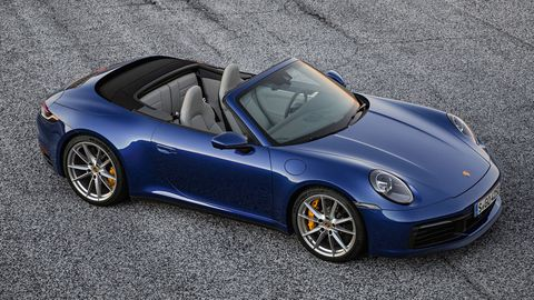 The 2020 Porsche 911 Carrera Cabriolet's fabric top opens a bit faster than the last version.