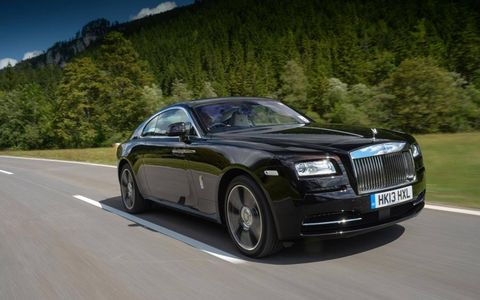 New 2014 Rolls-Royce Wraith coupe on the Alpine roads of Austria.