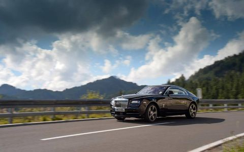 Test driving the new 2014 Rolls-Royce Wraith coupe on the Alpine roads of Austria.