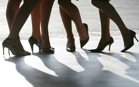 Footwear, Human, Leg, Human leg, Joint, Foot, Fashion, Black, Calf, Ankle,