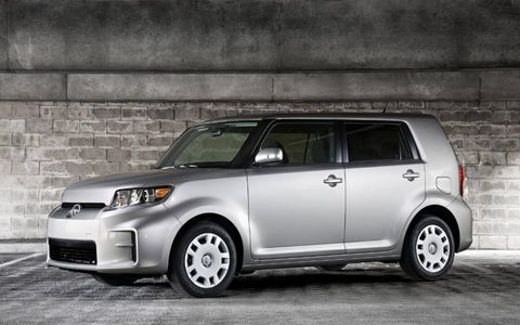 The 2013 Scion xB comes in at a base price of $18,310, with our tester topping off at $19,986.