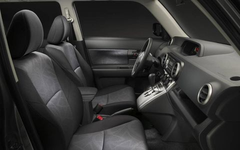The interior of the 2013 Scion xB feels rather cheap.