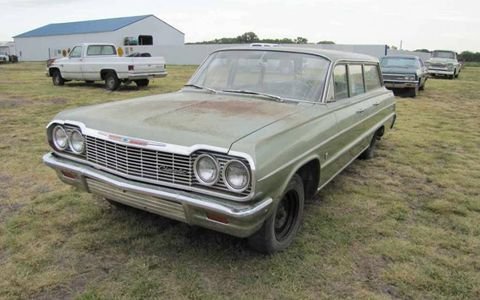 This 1964 Chevrolet Bel Air wagon is complete, and will likely require a fairly straightforward restoration.