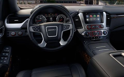 The new GMC Yukon full-size SUV interior, Denali model shown.