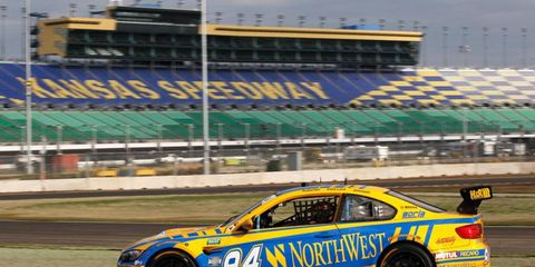Drivers from the Grand-Am Series gave the new road course at Kansas Speedway a workout on Wednesday.