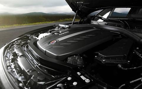 The D3's 3.0liter twin-turbo diesel inline-six produced 345 horsepower.