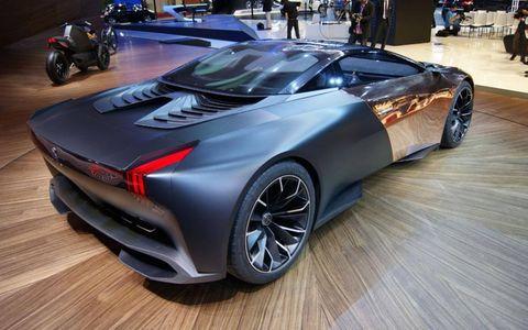 The Peugeot Onyx concept at the Paris motor show.