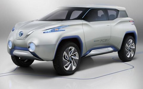 A front view of the Nissan TeRRA concept.