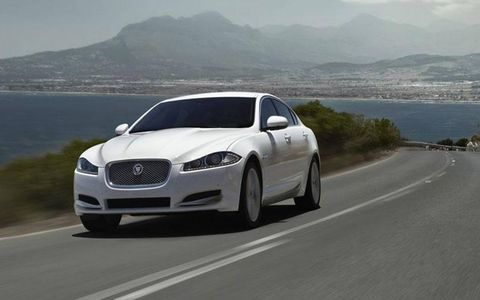 The 2013 Jaguar XF is powered by a  2.0-liter turbocharged inline four-cylinder.