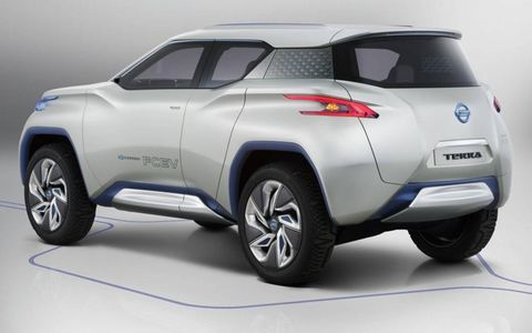 A rear view of the Nissan TeRRA concept.
