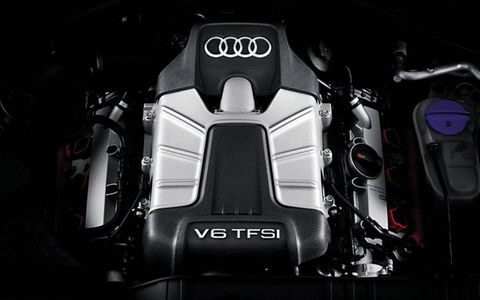 One of the powerplants of the 2013 Audi Q5, the 3.0-liter V6 TFSI.