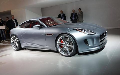 A side view of the Jaguar C-X16 that debuted at the 2011 Frankfurt Motor Show