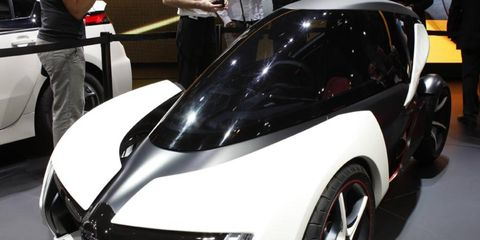 The Opel Rak e concept shown at the 2011 Frankfurt Motor Show