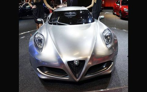 The new Alfa Romeo 4C from the floor of the Frankfurt Motor Show