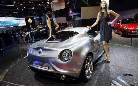 The new Alfa Romeo 4C from the floor of the Frankfurt Motor Show