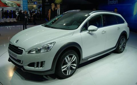 The Peugeot 508 RXH on the stand at the Franfurt motor show