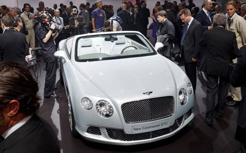 The latest Bentley Continental GTC, unveiled at the 2011 Frankfurt Motor Show