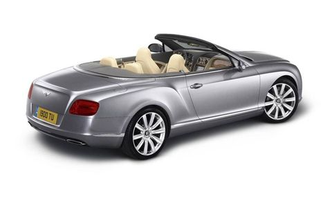A side view of the latest Bentley Continental GTC, unveiled at Frankfurt