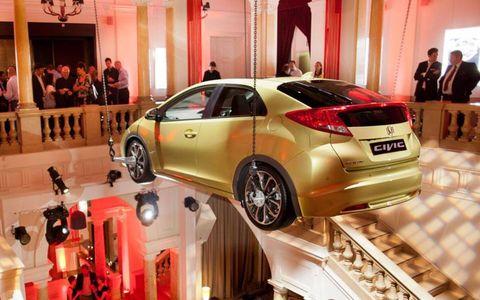 The new European Honda Civic displayed at the Frankfurt auto show