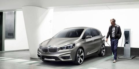 The BMW Active Tourer is a plug-in hybrid concept that will debut at the Paris motor show in late September.