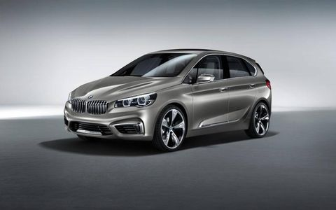 The BMW Active Tourer concept retains classic BMW looks with a slightly front-tilted radiator grille.