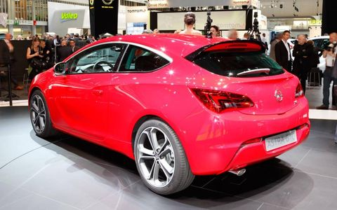 The Opel Astra GTC from the floor of the Frankfurt auto show