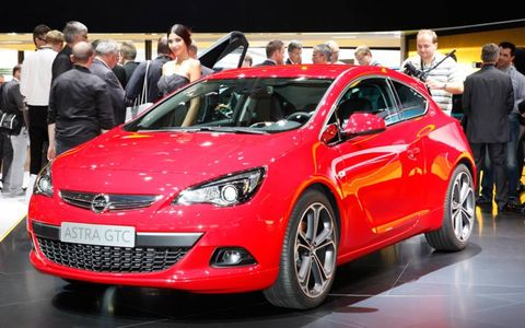 Opel Astra GTC from the floor of the Frankfurt auto show