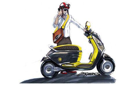 Motor vehicle, Tire, Wheel, Automotive design, Product, Fender, Automotive tire, Automotive lighting, Art, Scooter,