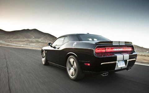 The 2013 Dodge Challenger SRT8 392 has the ability to accelerate from 0-60mph in about 4 seconds.